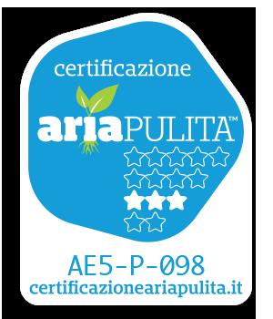 certicficato aria pulita Termo Regina 631 M DSA
