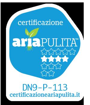certicficato aria pulita Rita Elite Evo