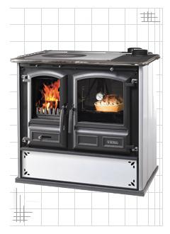 Regina 631 Steel - Cucine a Legna - Dal Zotto